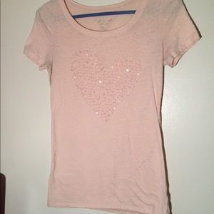 American Eagle Outfitters Light Pink Tee Shirt